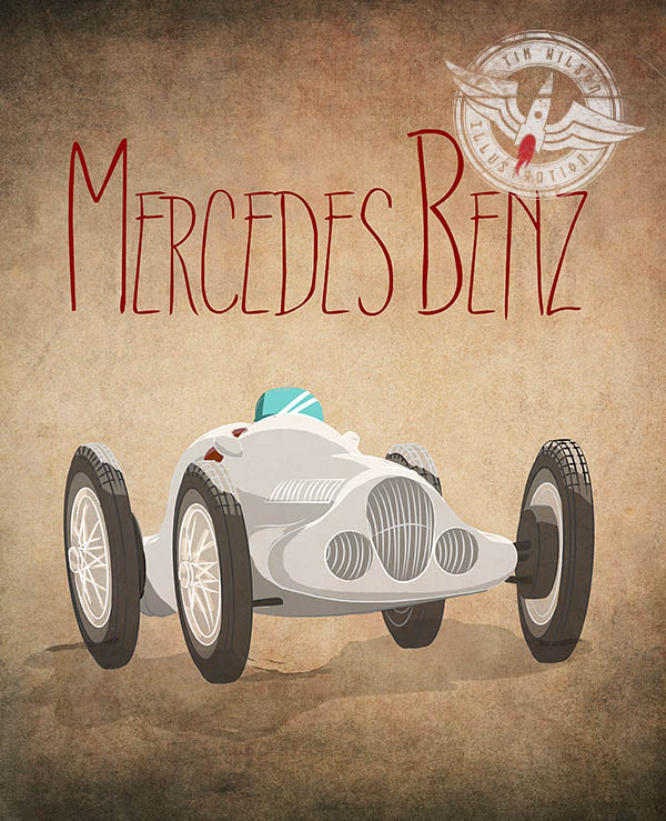 merc w125 Illustration by Tim Wilson