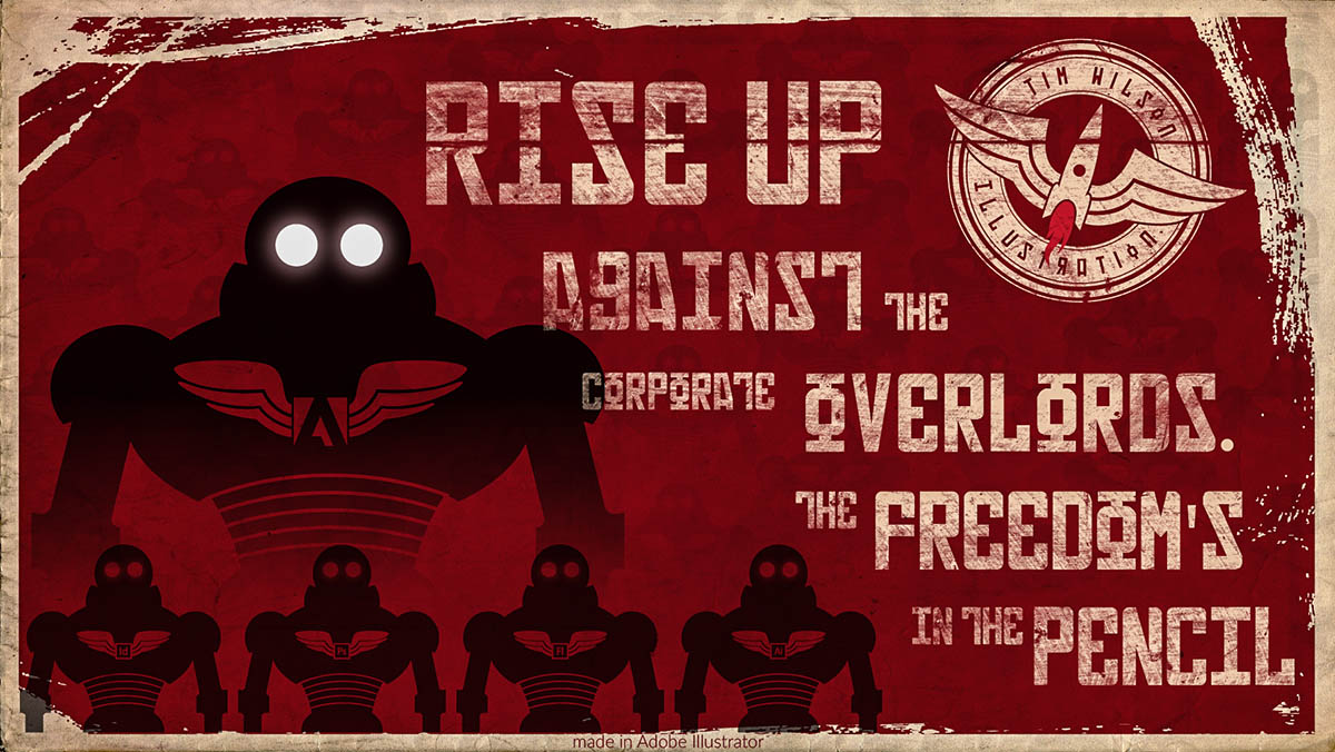 rise up against the overlords by Tim Wilson Illustration